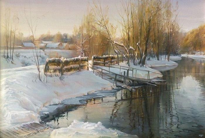 Зимнее озеро. Автор: Роман Романов.