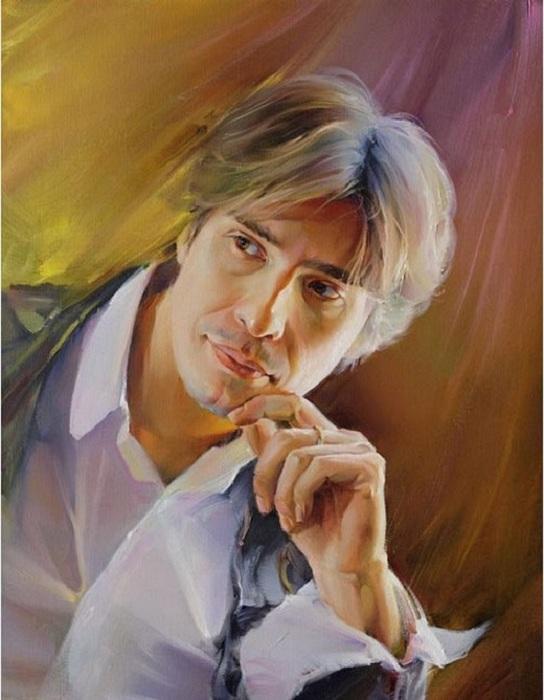 Портрет молодого человека. Автор: Роман Романов.