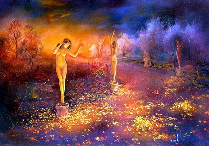 «Свет осени в старом парке». Картины-размышления от Романа Величко.