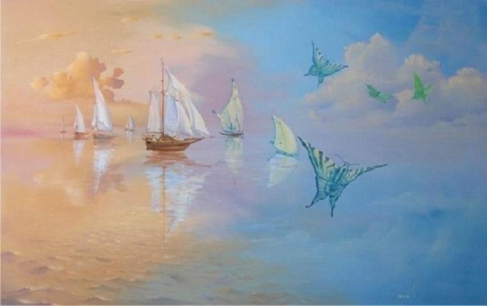 «Парусники». Картины-размышления от Романа Величко.