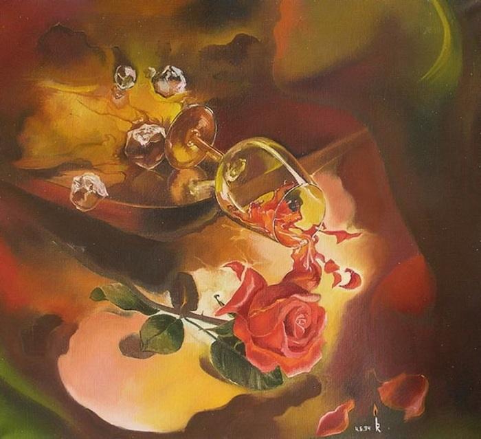 «Ночное вино». Картины-размышления от Романа Величко.