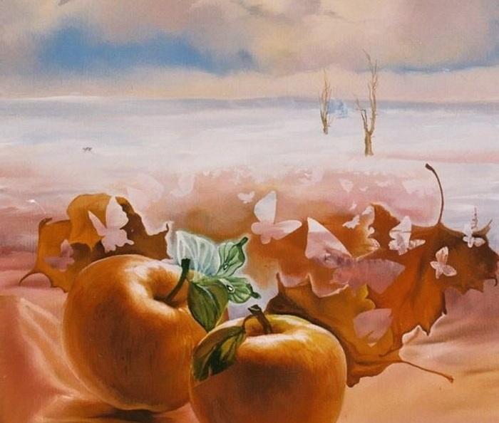 «Зимние яблоки». Картины-размышления от Романа Величко.