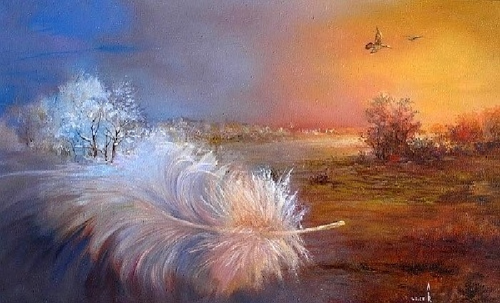 «Смена времен года». Картины-размышления от Романа Величко.