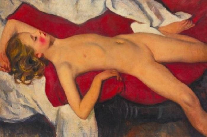 «Спящая девочка». (1923). Автор: Зинаида Серебрякова.