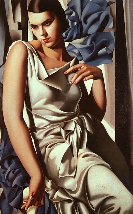 «Портрет мадам М.»($6,1 млн). (1930). Автор: Тамара де Лемпицка.