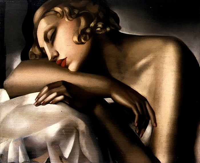 Спящая женщина.(1932). Автор: Тамара де Лемпицка.