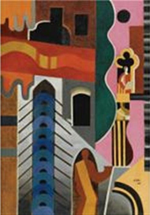 Венеция. (1925). Холст, масло, песок. Sotheby's, 2009 - 1,05 миллиона фунтов. Автор: Александра Экстер.