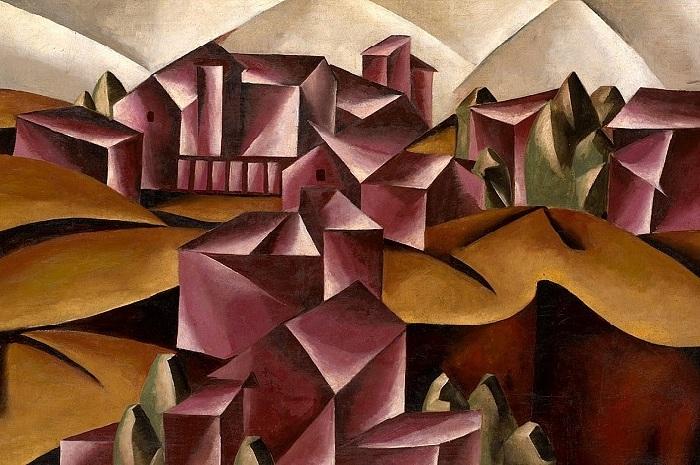 Бирский пейзаж.(1916). 1 015 355 USD. Продано в 2007 году. Автор: Любовь Попова.