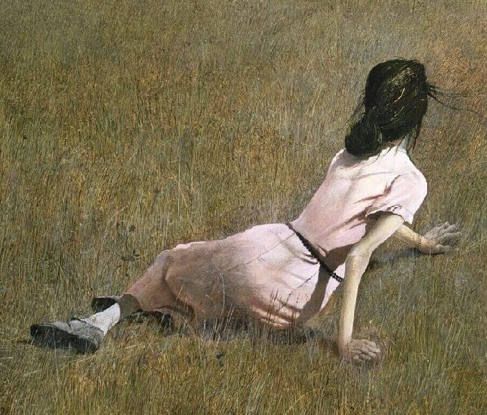 «Мир Кристины». Фрагмент.(1948 год). Автор: Эндрю Уайет.