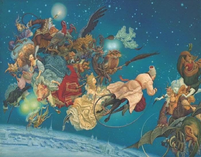 Иллюстрация к «Вечерам на хуторе близ Диканьки» от Андрея и Ольги Дугиных.