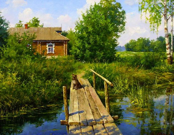 В ожидании друга. Автор: Дмитрий Левин.