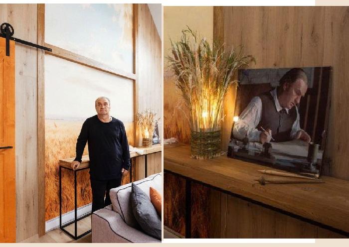 Интерьер гостиной загородного дома Александра Балуева.