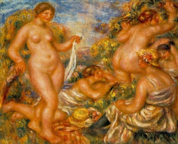 Купальщицы ( 1918—1919), Музей д'Орсэ, Париж. / Последняя картина, созданная художником/.
