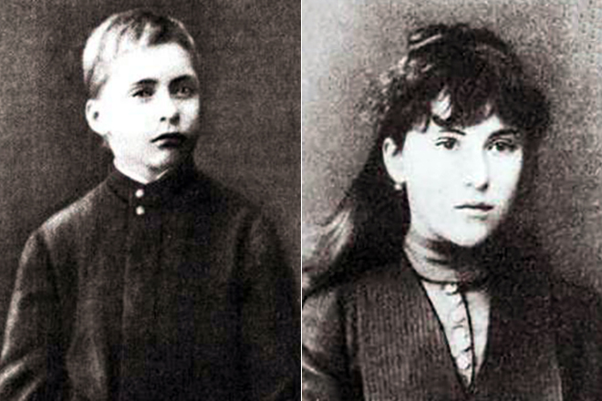 Дети писателя - Константин и Елизавета.