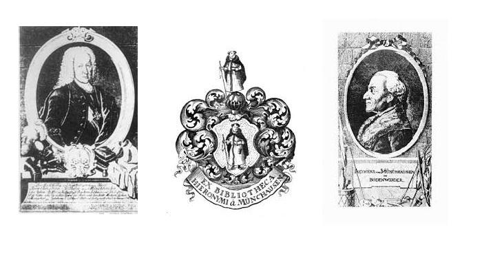 Экслибрис барона Мюнхгаузена. / Гравюрные портреты барона.