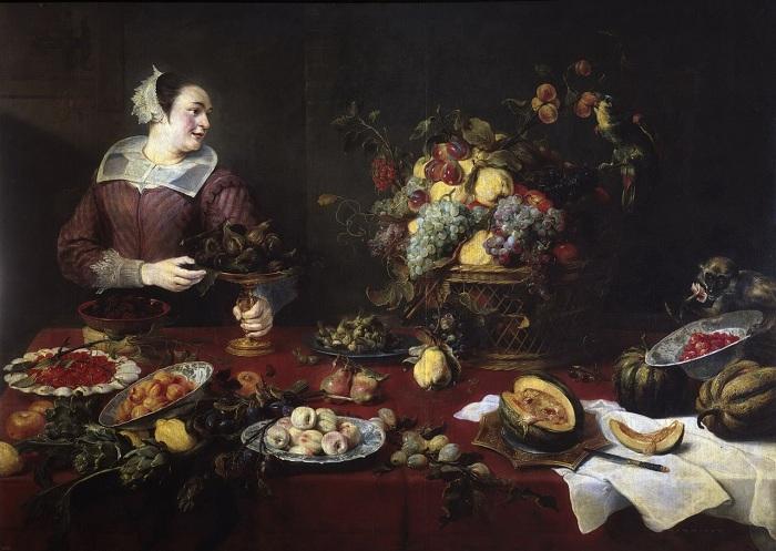 «Девушка с фруктами». (ок.1633)(Мадрид, Прадо). Автор: Франс Снейдерс.