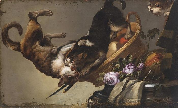 <br>«Натюрморт с боевыми кошками». Автор: Франс Снейдерс.