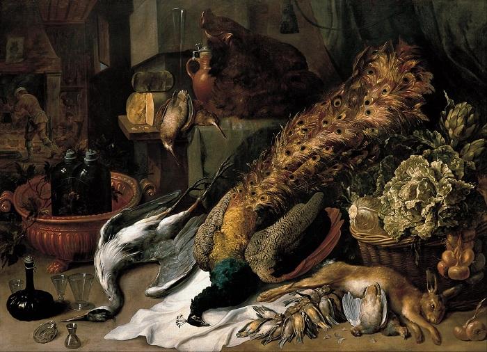 «Натюрморт с битой дичью». (1610-1620) (Мадрид, Фонд Банко Сантандер). Автор: Франс Снейдерс.