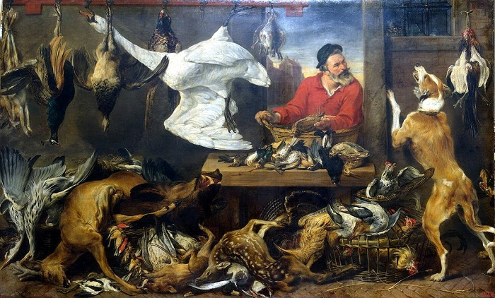 «Лавка дичи». (совместно с Яном Вильденсом). (между 1618 и 1621). (С.-Петербург, Эрмитаж). Автор: Франс Снейдерс.