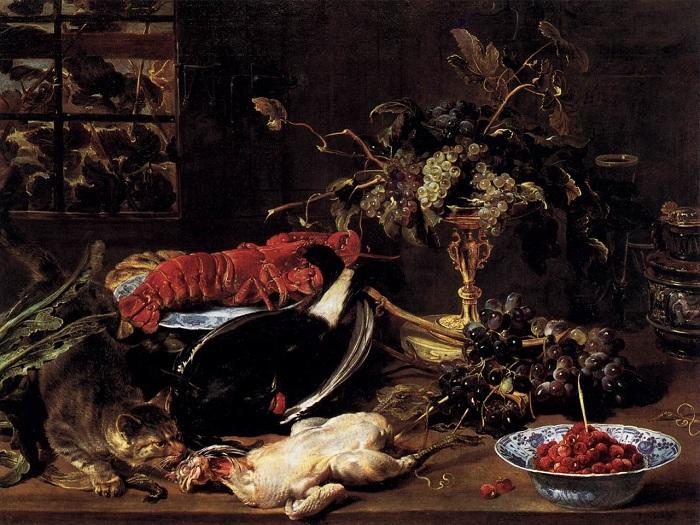 «Натюрморт с омаром».(1615-1620). (Берлин, Государственный музей). Автор: Франс Снейдерс.