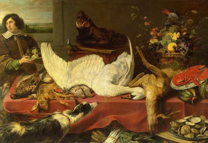 «Натюрморт с лебедем». (1640-е) (Москва, ГМИИ им.Пушкина). Автор: Франс Снейдерс.