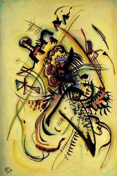 Акварель. «Незнакомому голосу». (1916). Автор: Василий Кандинский.