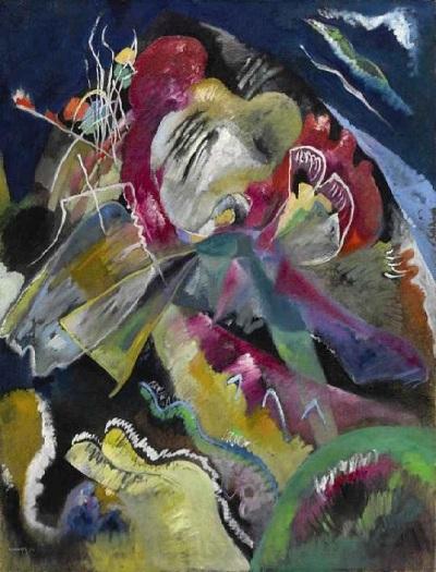 «Картина с белыми линиями». (1913). 41,8 млн. долларов. (Sotheby's 2017). Автор: Василий Кандинский.