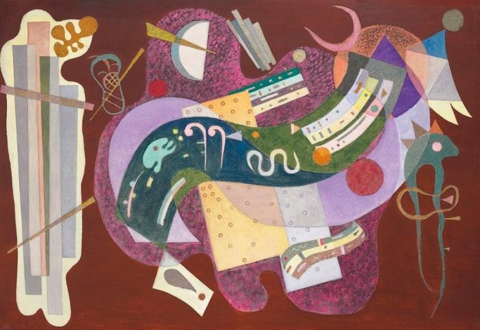«Негнущееся согнутое». (1935). 23,3 млн. долларов. (Christie's, 2016). Автор: Василий Кандинский.