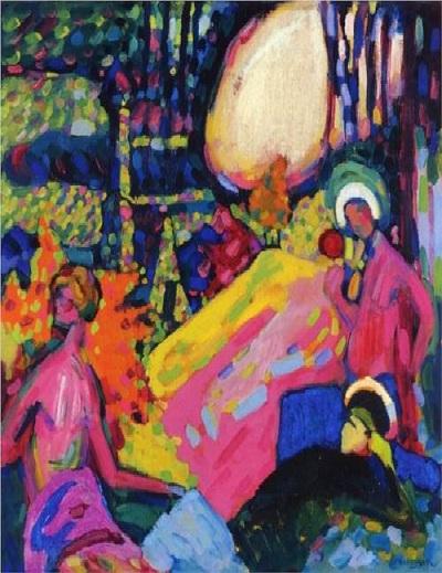 «Белый звук». (1908). 23,3 млн. долларов. (Sotheby's 2007).Автор: Василий Кандинский.