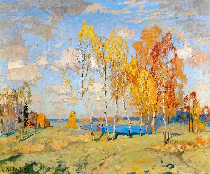 Осень. Холст на картоне, масло. 51 x 61 см.  Художник: Константин Горбатов.
