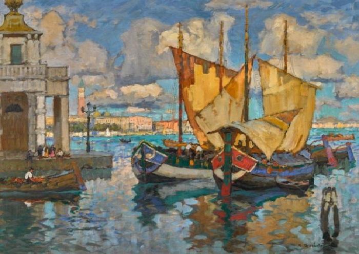 В Венеции. 90,5х110 см. Холст, масло. Автор: Горбатов К.И.
