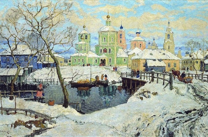 Зима. 1919. Художник: Константин Горбатов.