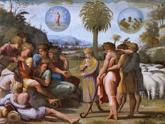 «Истории Иосифа». Иосиф толкует братьям свои сны.