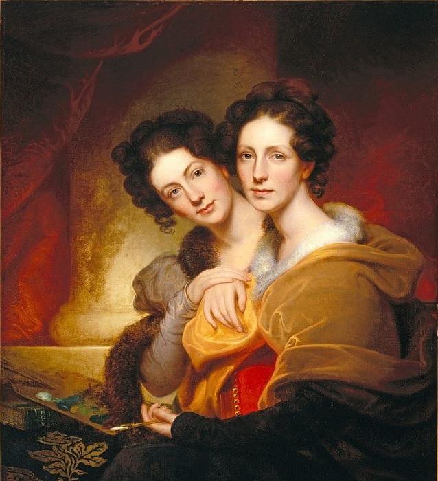 Элеонора и Розальба, дочери художника, ок. 1826 год. Автор: Рембрандт Пил.