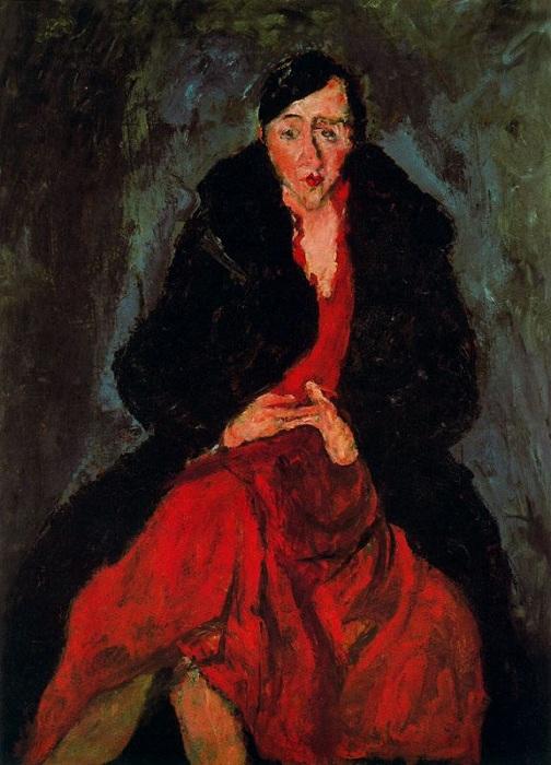 Женщина в красном. Автор: Хаим Сутин.