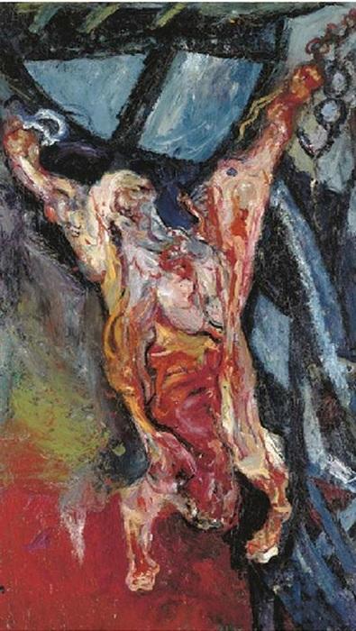 Освежеванный бык<br>Холст, масло. 129,8 x 75. Christie's. (2006). Цена: 7 848 000 фунтов. Автор: Хаим Сутин.