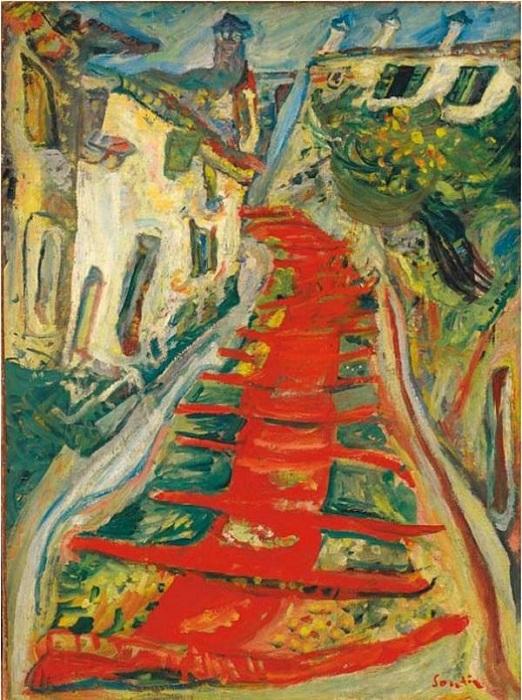 Красная лестница в Кане. (1923). Холст, масло. 73 x 54 Christie's.(2007). Цена: 3 283 333 фунта.
