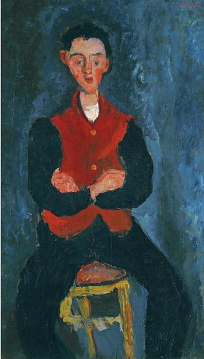 Камердинер. Ок. 1927–1928. Холст, масло. 109,2 x 63,2. Sotheby's.(2010). Цена: 7 881 250 фунтов