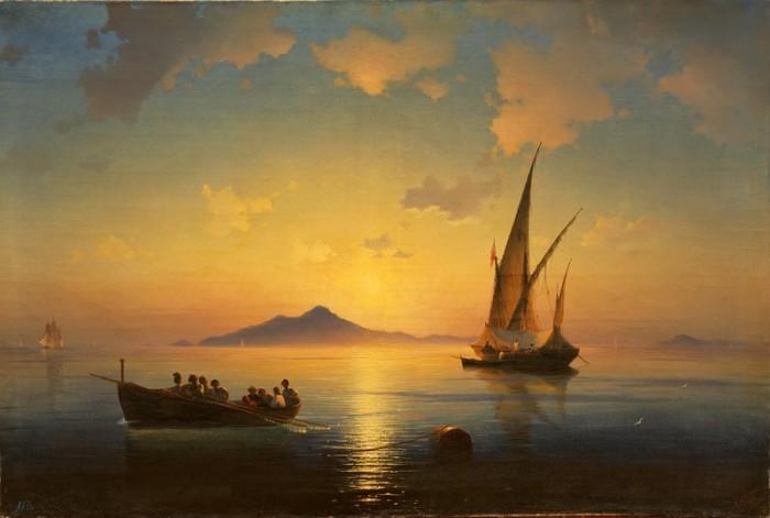 """""""Неаполитанский залив"""". Автор. И.К.Айвазовский."""