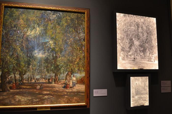 «Аллея парка».(1930). Государственная Третьяковская галерея. Автор: Исаак Израилевич Бродский.