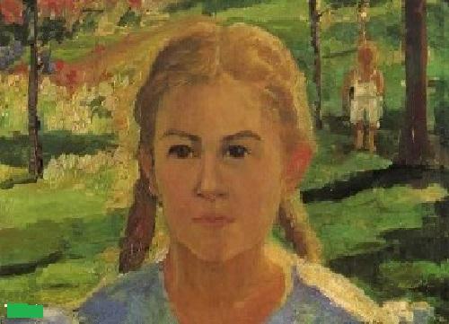 Портрет дочери Уны. Автор: Казимир Малевич.
