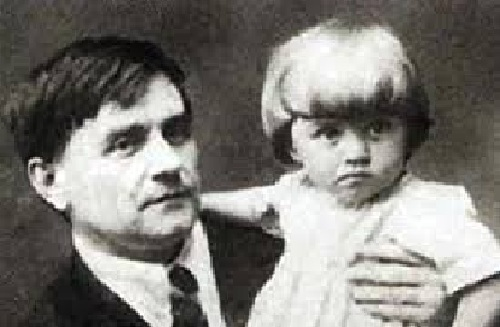 Казимир Малевич с дочерью Уной
