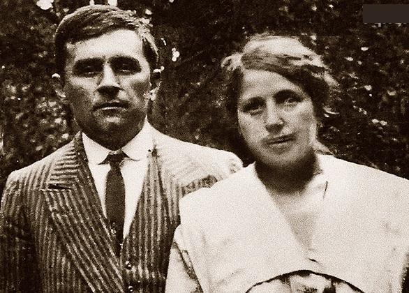 Малевич с Софьей Рафалович.