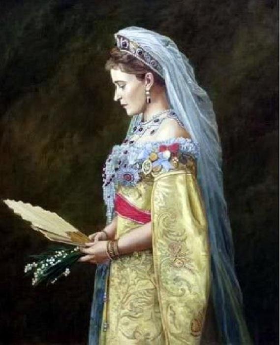 Портрет Великой княгини Елизаветы Федоровны. (1897). Автор: Федор Москвитин.