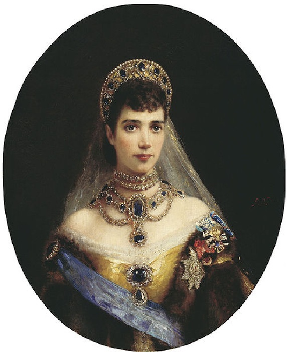 Мария Федоровна в кокошнике. Константин  Маковский.