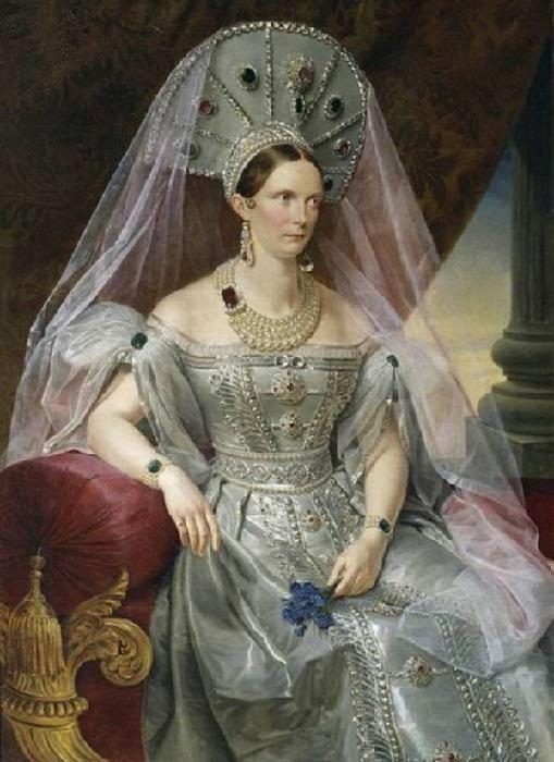 Портрет императрицы Александры Фёдоровны. Автор: Франц Крюгер.