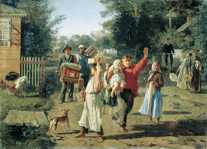 «Петрушка идёт!». (1888). Автор: А.И.Корзухин.