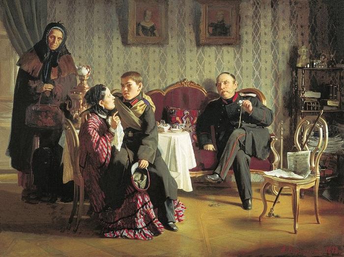 «Разлука (1872)». Автор: А.И.Корзухин.