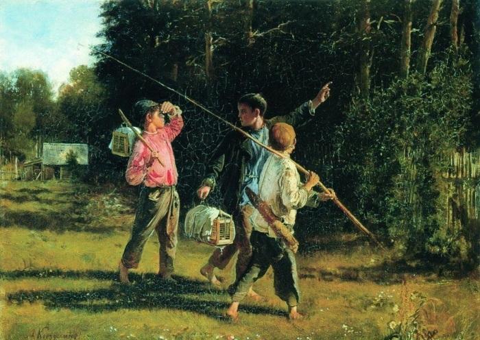 «Птичьи враги» (1887). Автор: А.И.Корзухин.