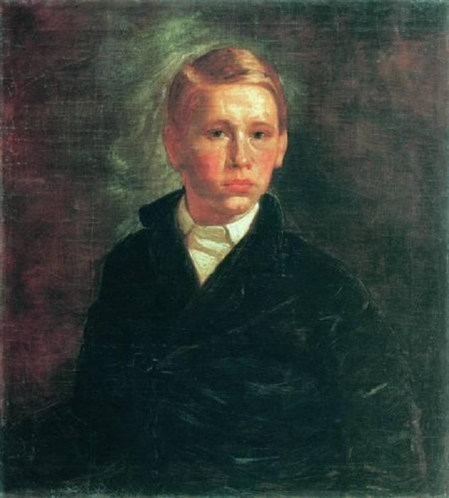 «Автопортрет». (1850). Автор: А.И.Корзухин.